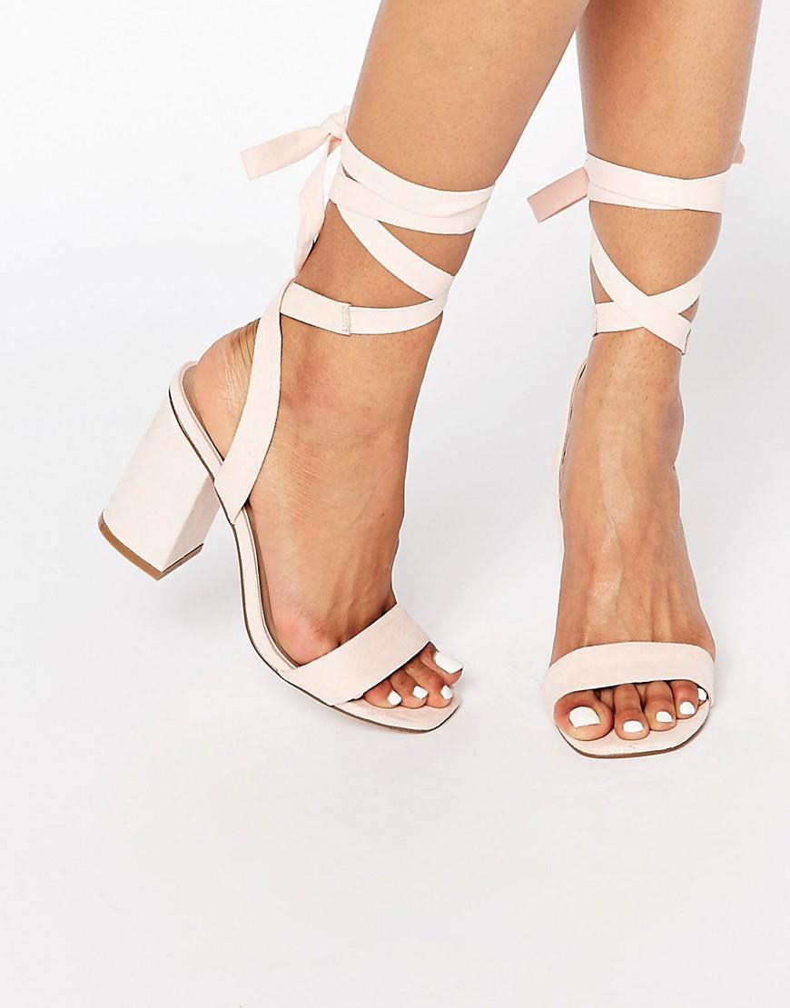 ASOS Handshake Lace Up Heeled Sandals