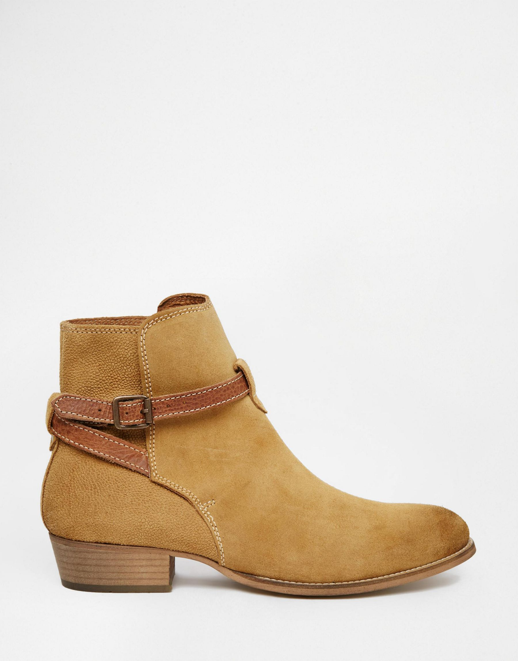 House Of Hounds Adrian Suede Buckle Boots In Tan - Tan House Of Hounds For Sale Very Cheap Cheap Sale Outlet Quality Free Shipping Low Price Factory Price 4YryVisE