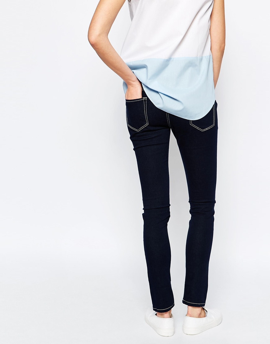 isabella oliver stretch skinny jeans in blue lyst. Black Bedroom Furniture Sets. Home Design Ideas