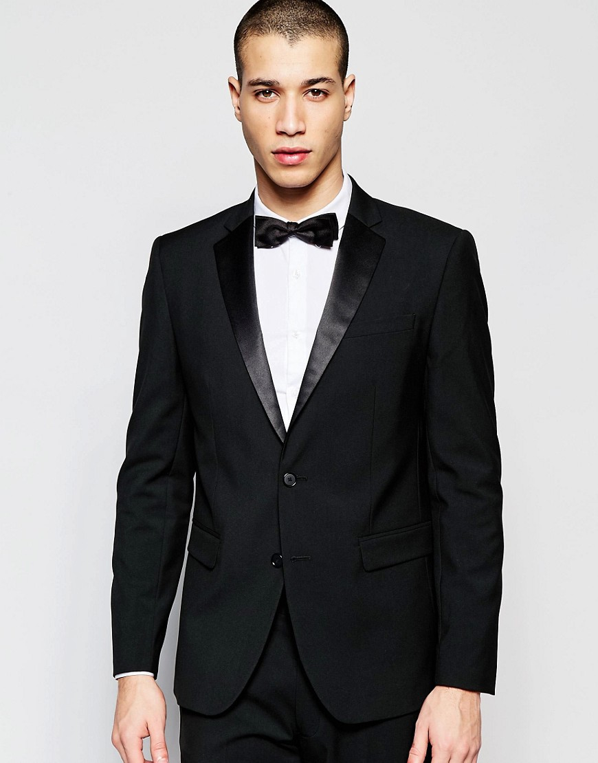 Suit jacket by ASOS DESIGN, For that thing you have to go to, Lined with internal pocket, Notch lapels, Singe button opening, Functional pockets, Skinny fit, A tight cut for a sleek shape.