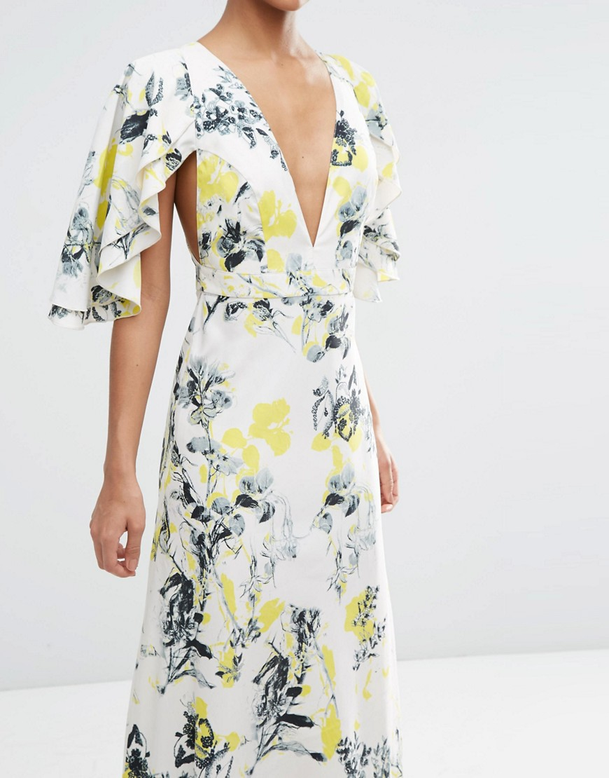 Asos Cape Back Midi Dress | Asos Wedding Guest Dresses ...