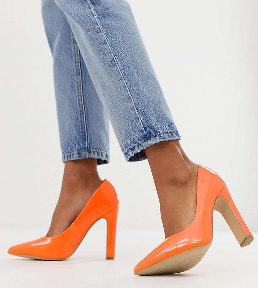 1a6c7f3550 New Look. Women's Pointed Toe Block Heel Shoes In Orange. $32 From ASOS