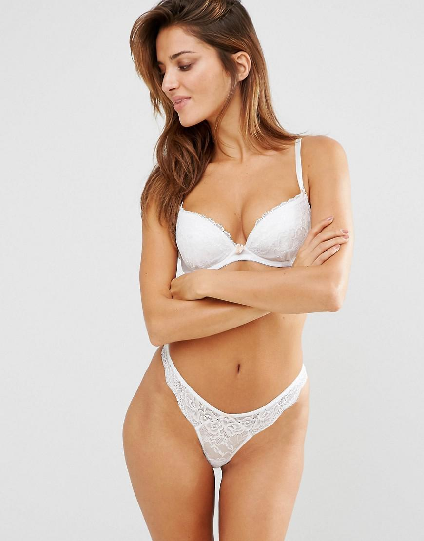 1f526042197b Ann Summers Sexy Lace Plunge Bra in White - Lyst