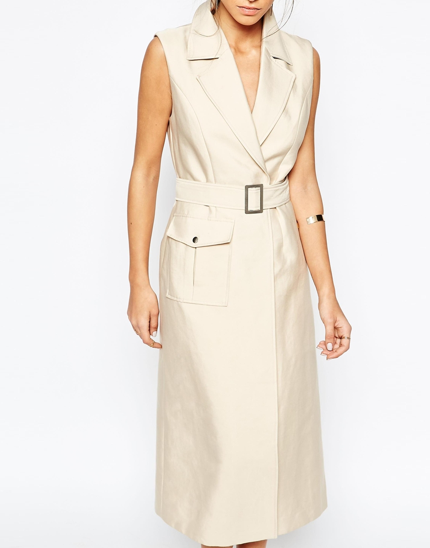 C meo collective white walls trench dress in beige beige for C meo bedroom wall dress