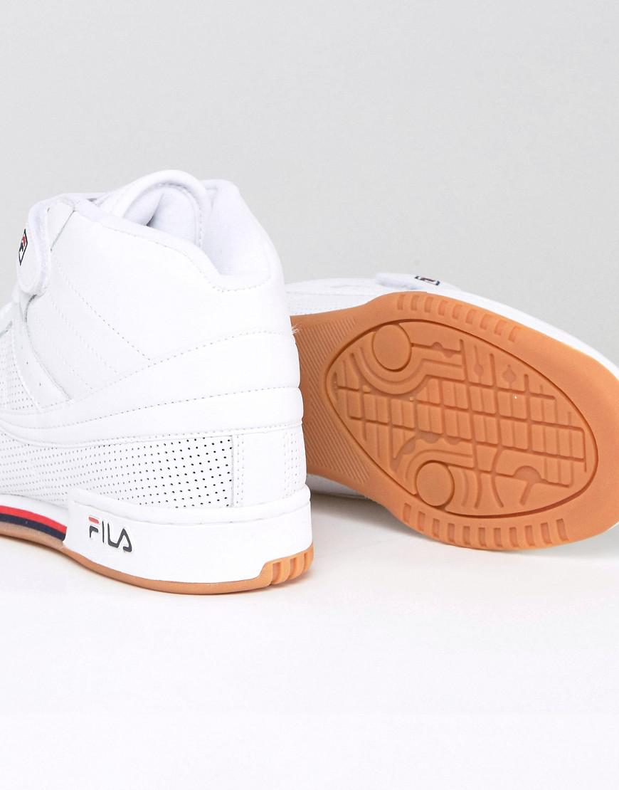 455b40a1989b Fila Fila F13 Perforated Mid Trainers With Strap in White for Men - Lyst