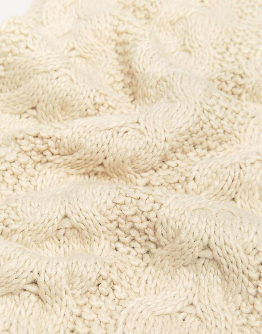 Knitting Warehouse Shipping : Lyst warehouse cable knit scarf in natural