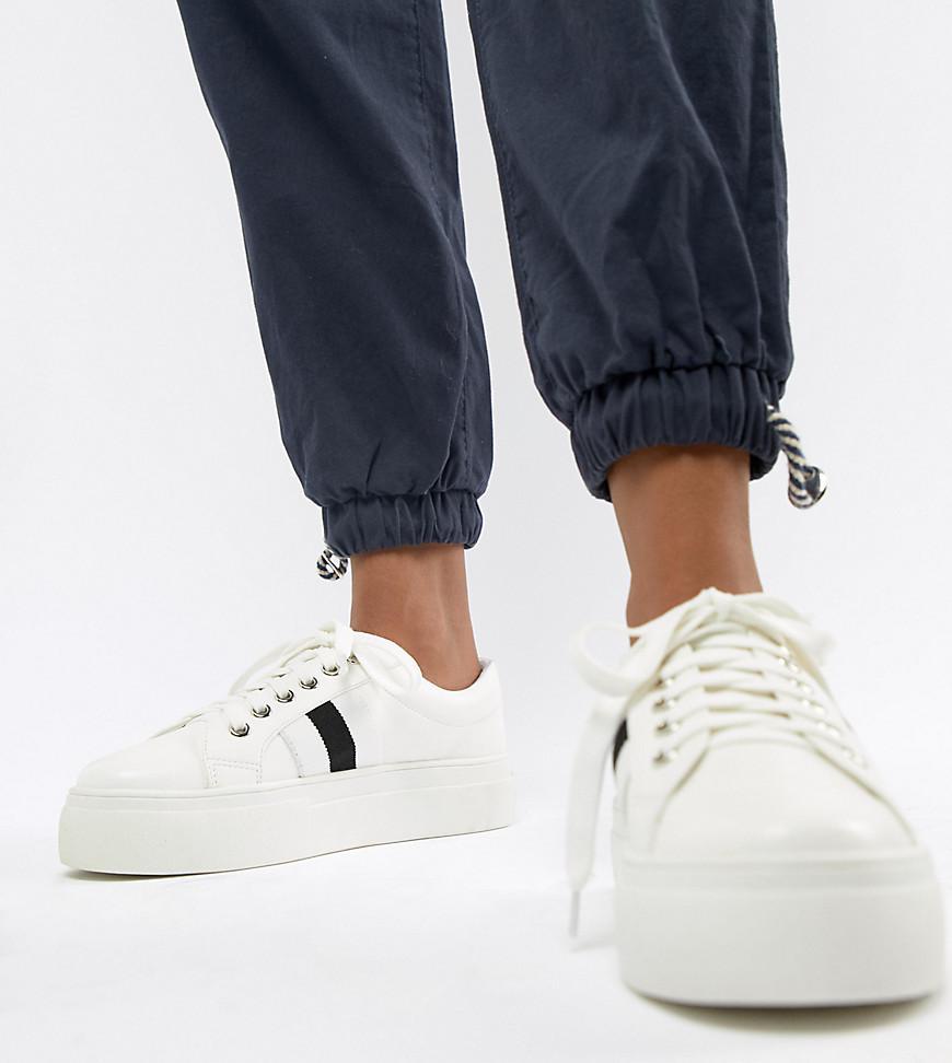 London Rebel Lace Up Flatform Sneakers