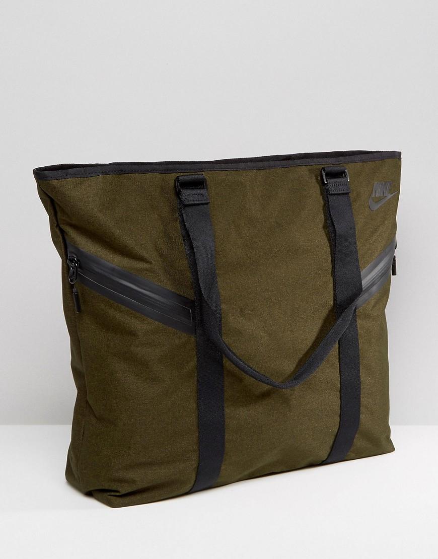 Nike Canvas Premium Azeda Tote - Dark Loden/dark Lode in Green