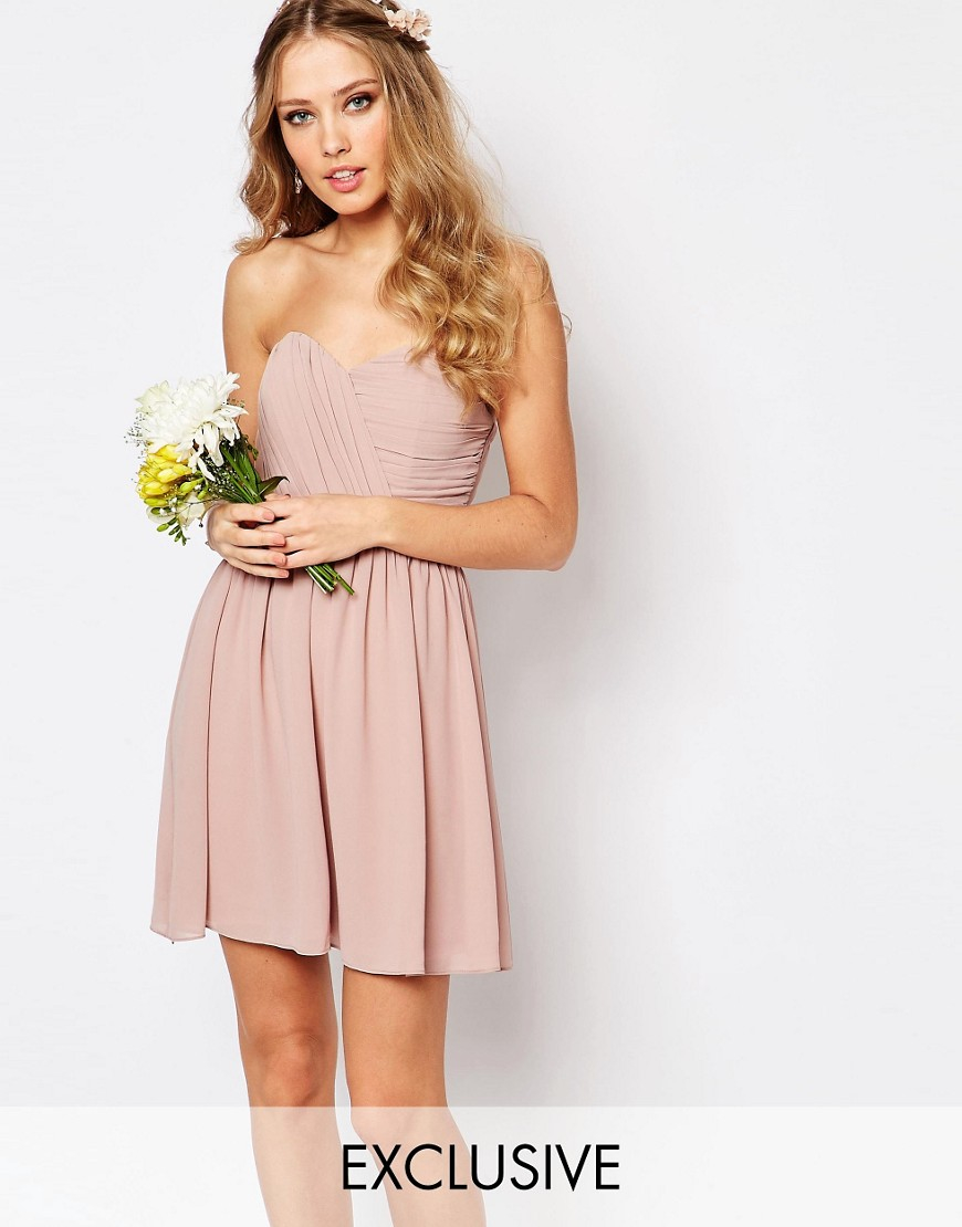 Search River Island. Petite white button bandeau mini dress. Quick view. Add to wishlist. £ Petite rust button bandeau mini dress. Quick view. Pink chiffon cold shoulder swing dress. Quick view. Add to wishlist. £ £ Dark red belted bardot dress. Quick view. Add to wishlist.