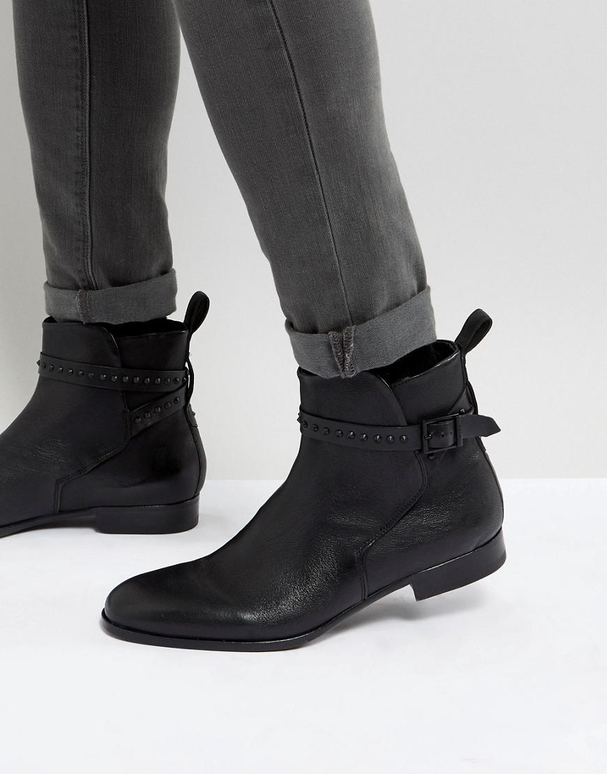 HUGO BOSS Cult Stud Leather Chelsea Boots in L70Rs
