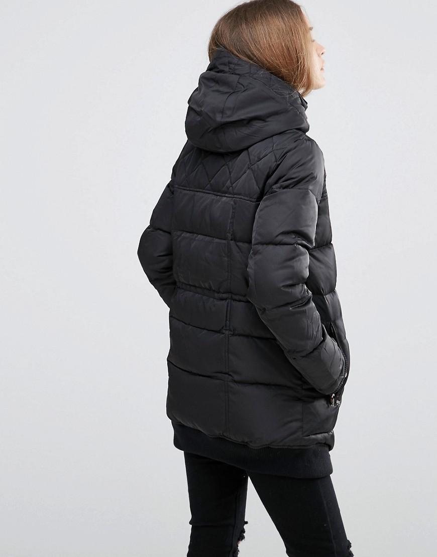 Pepe Jeans Denim Elvie Padded Jacket in Black