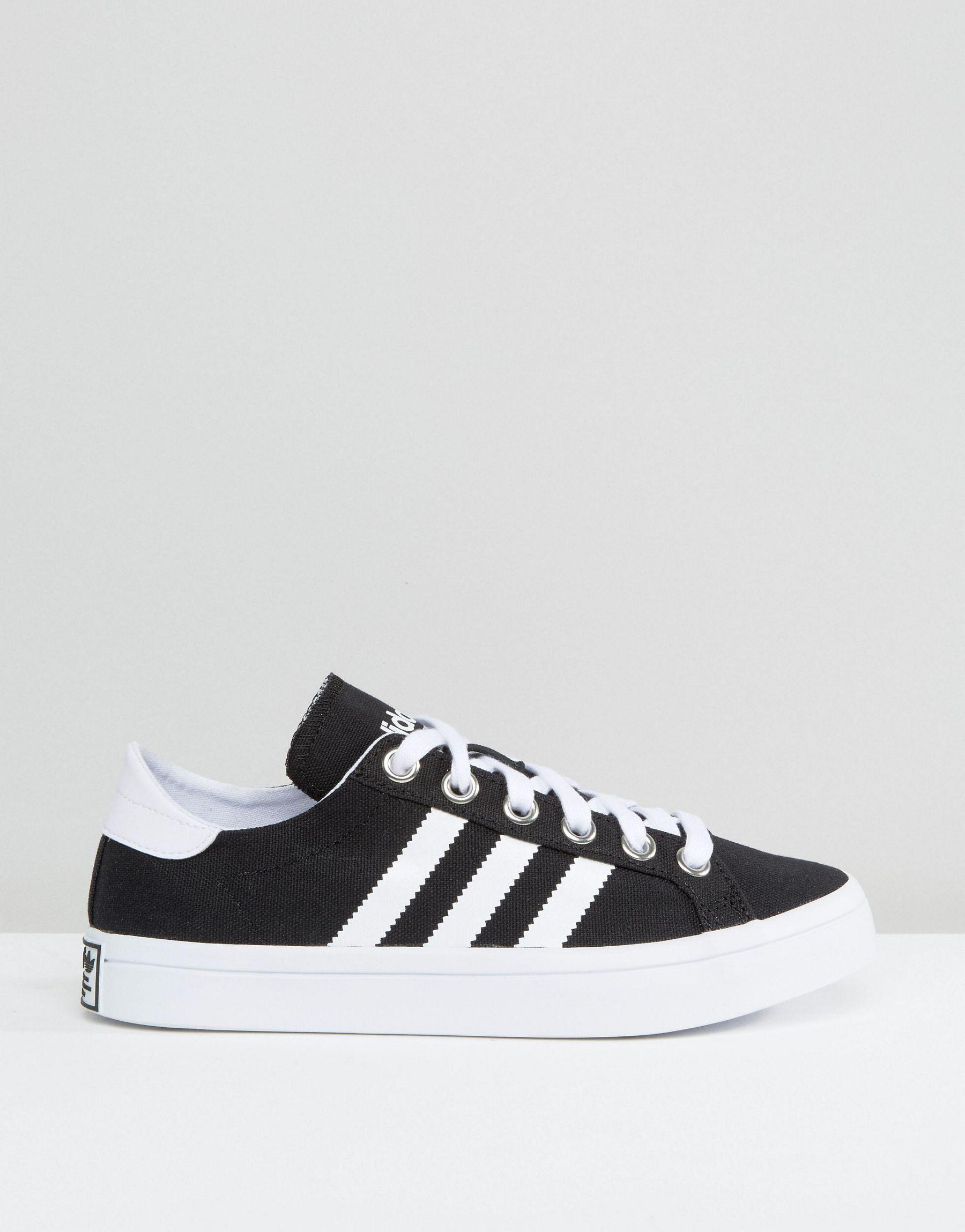 adidas originals black and white court vantage sneakers, OFF 74%,Buy!
