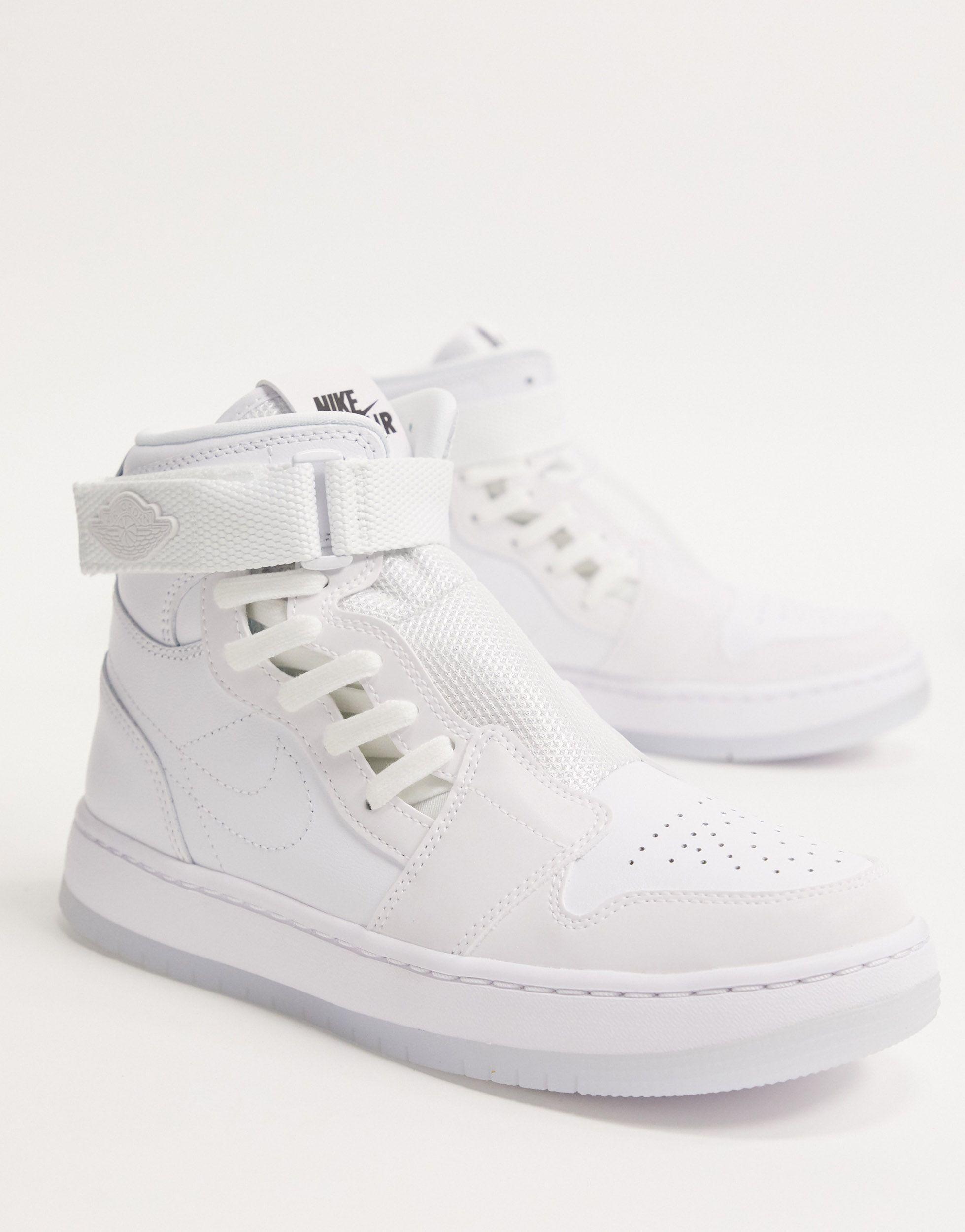 Nike Leather Air Jordan 1 Nova Xx Shoe in White/Black/White (White ...