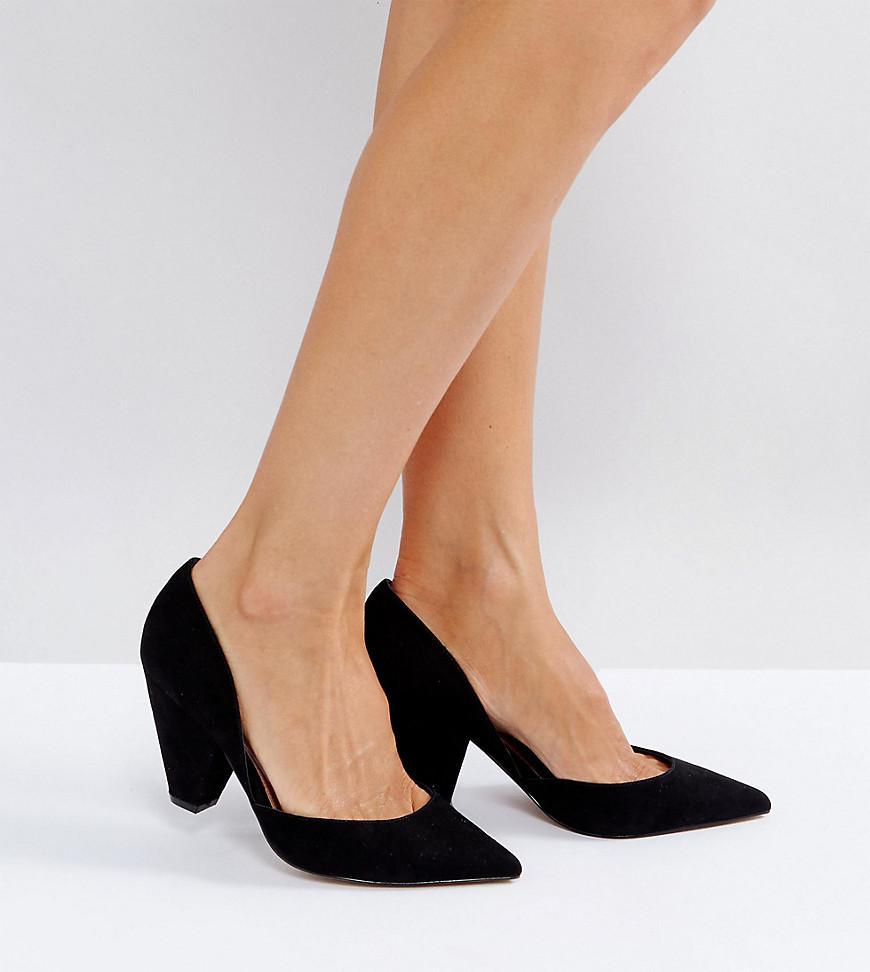 SULPHUR Wide Fit Pointed Heels - Black Asos Clearance Websites fDxYU