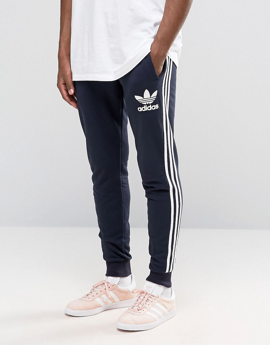 adidas originals trefoil joggers ay7783 in blue for men lyst. Black Bedroom Furniture Sets. Home Design Ideas
