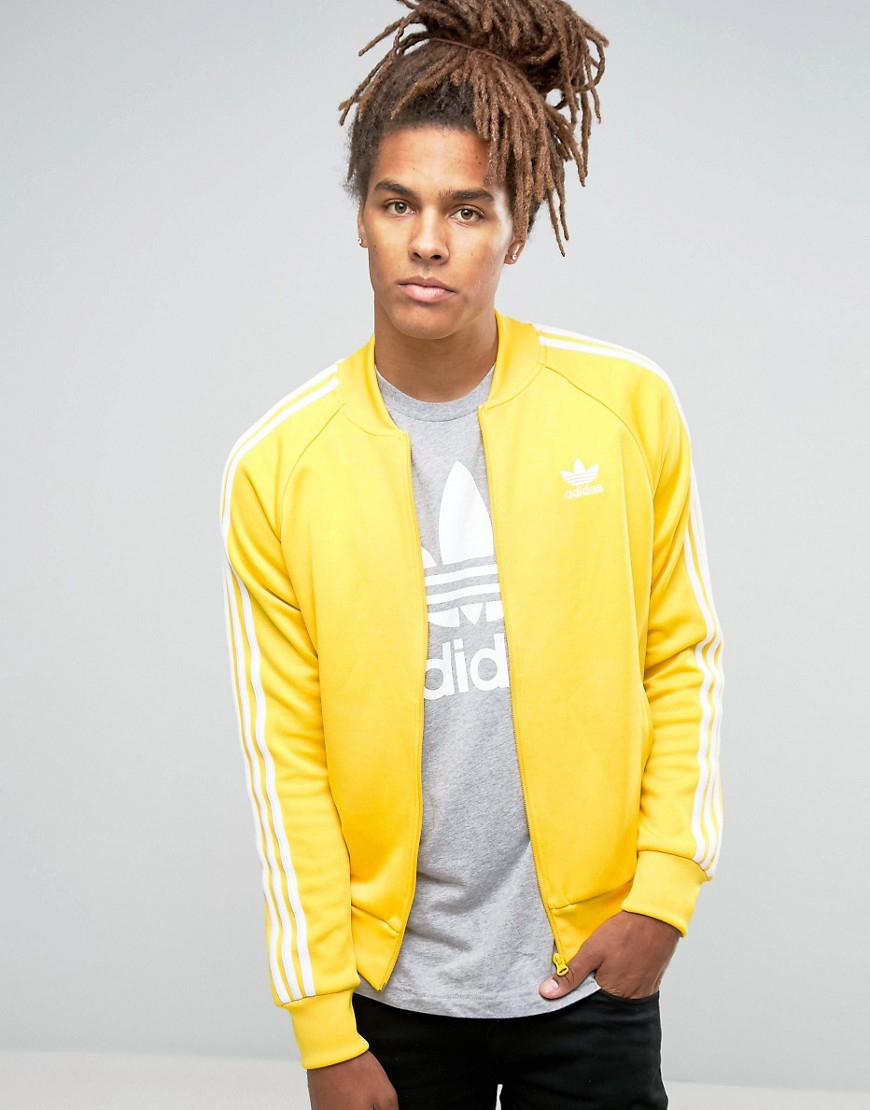 a151a59a97c adidas Originals Trefoil Superstar Track Jacket Ay7060 - Yellow in ...