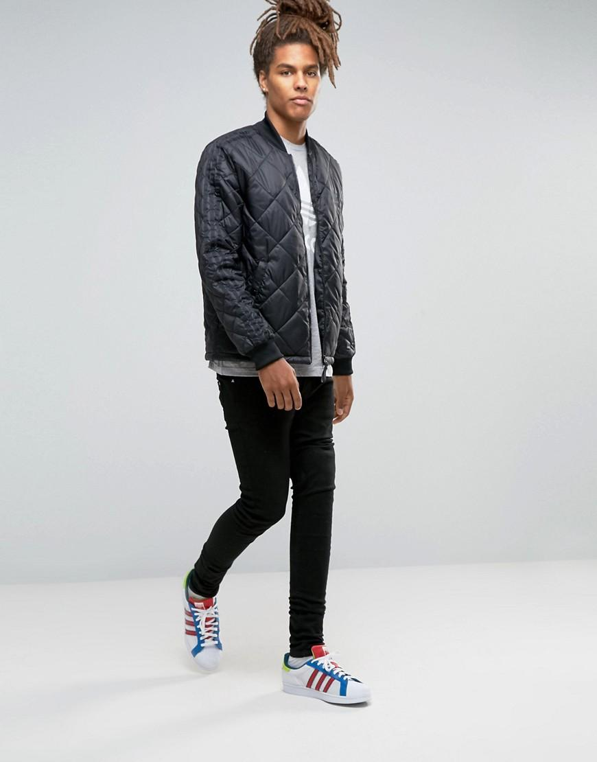 adidas Originals Synthetic Quilted Superstar Bomber Jacket Ay9145 in Black for Men