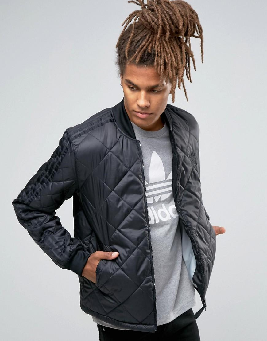 Lyst - Adidas Originals Quilted Superstar Bomber Jacket ...