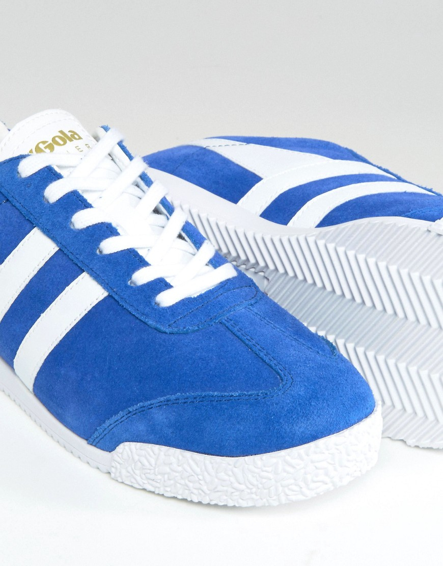 Gola Suede Classic Harrier Trainers In Blue