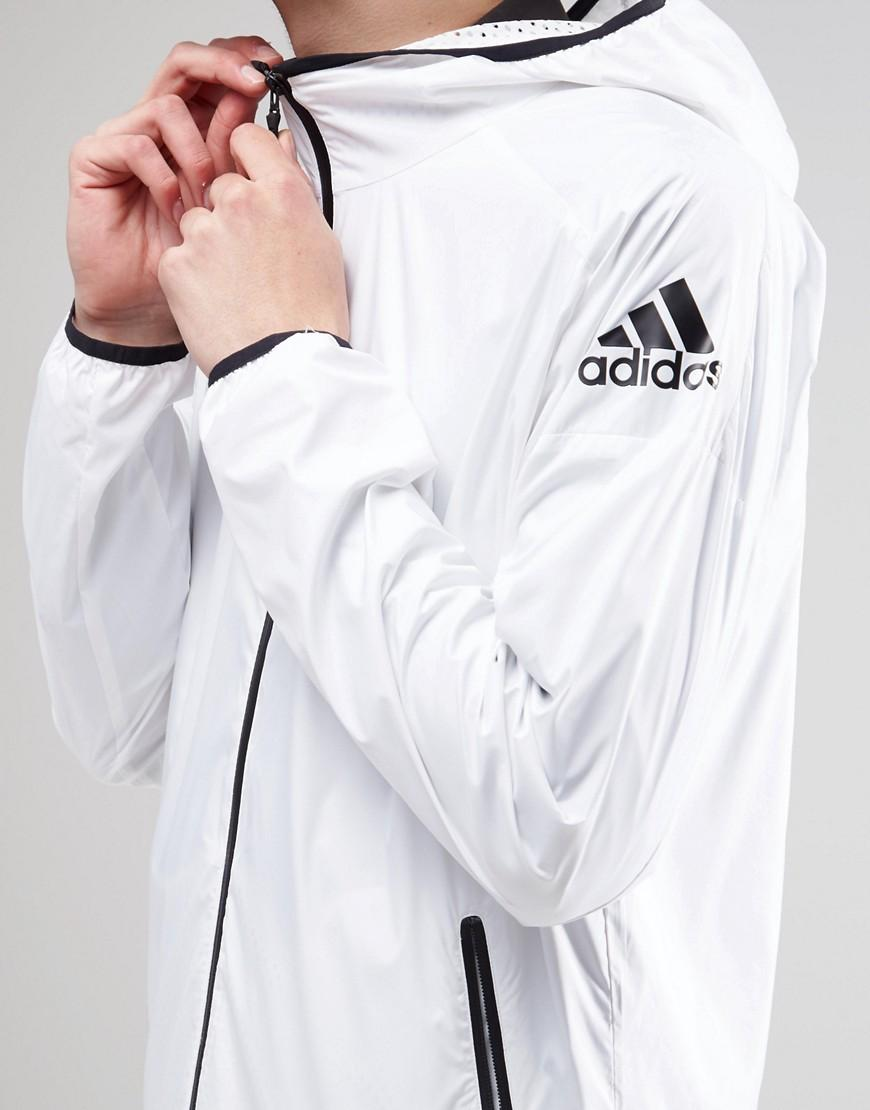 Lyst - adidas Originals Adidas Zne Windbreaker Jacket Az9979 - White in  White for Men 6928d0af6