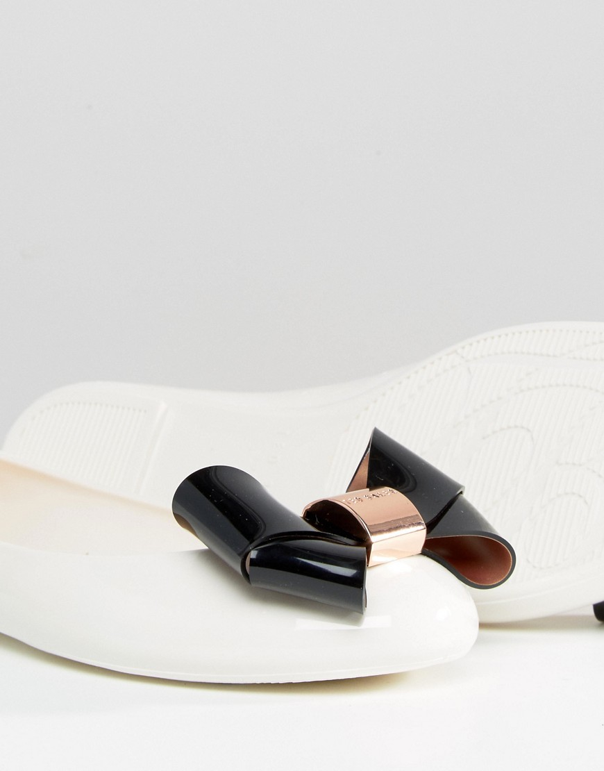 Ted Baker Cream Black Faiyte Bow Jelly Shoes