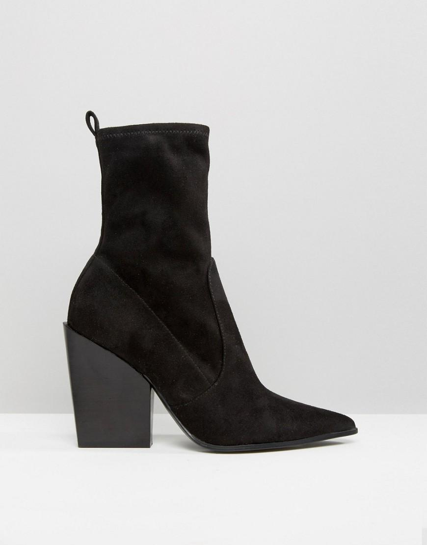 Kendall + Kylie Faux Suede Sock Boot in Black