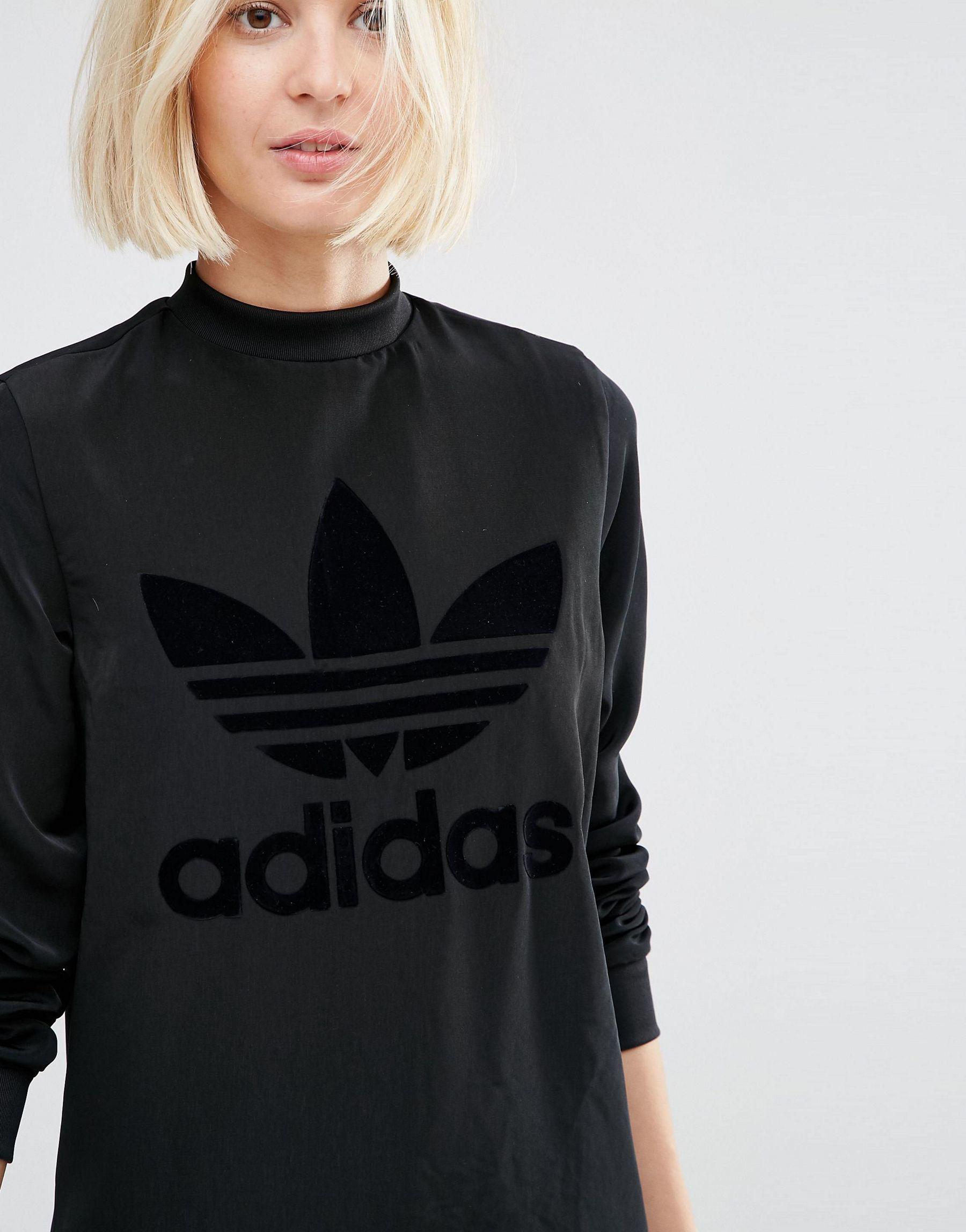 5f023a9b16 adidas Originals Originals Double Layer Maxi Dress With Tonal ...