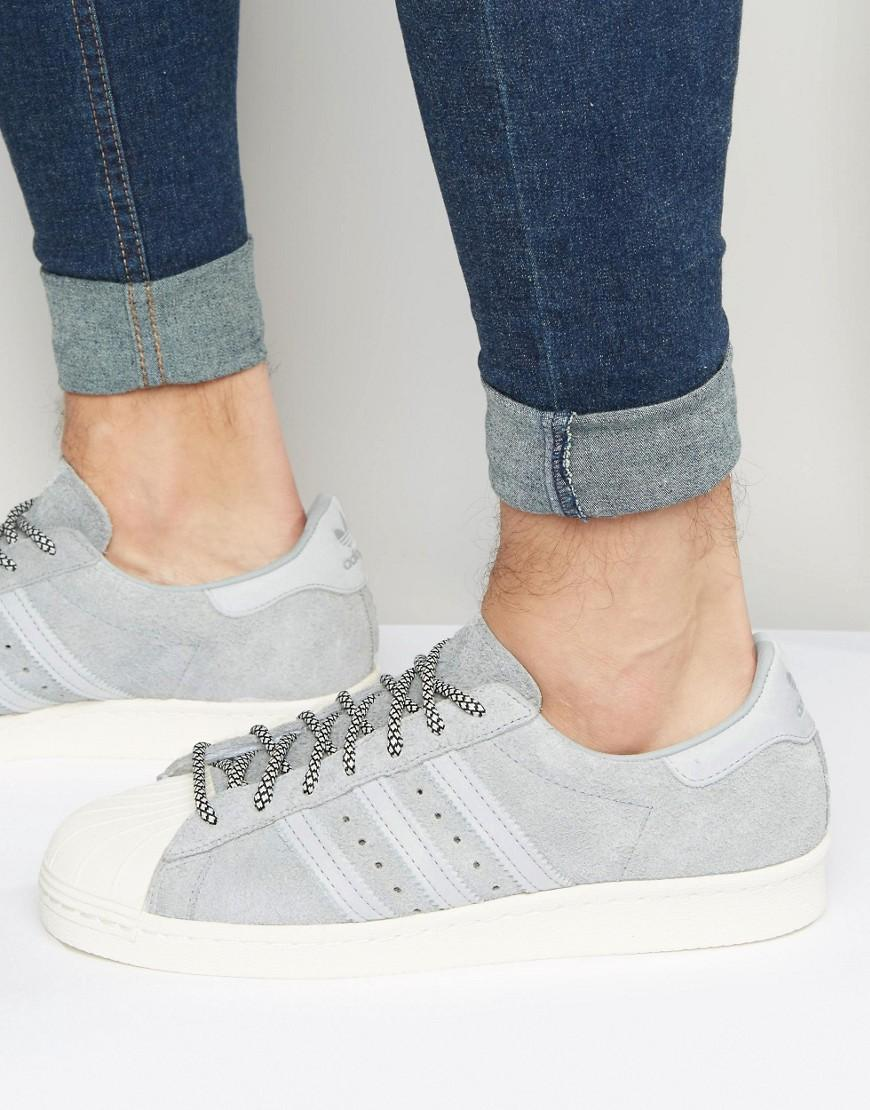 new products superior quality brand new Superstar 80's Sneakers In Grey S75849