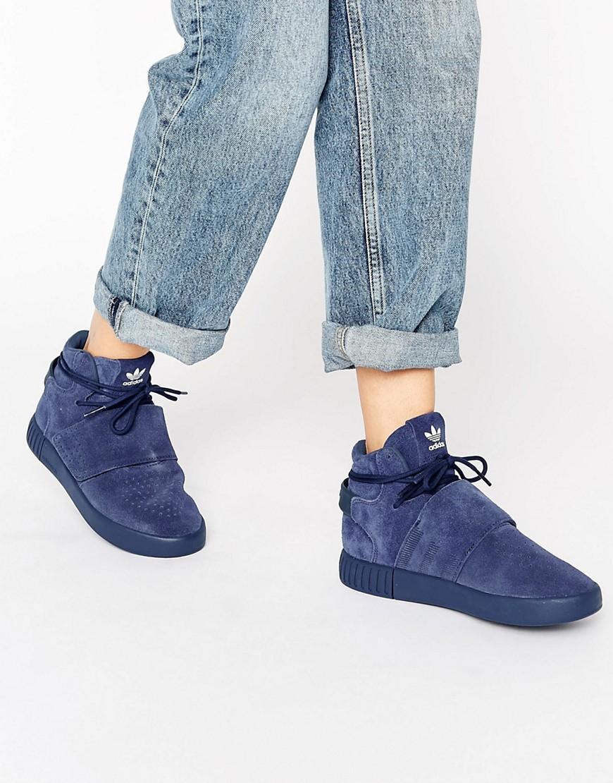 Adidas Originals Originals Tubular Invader Unisex Sneakers in Blue ... 57819b776