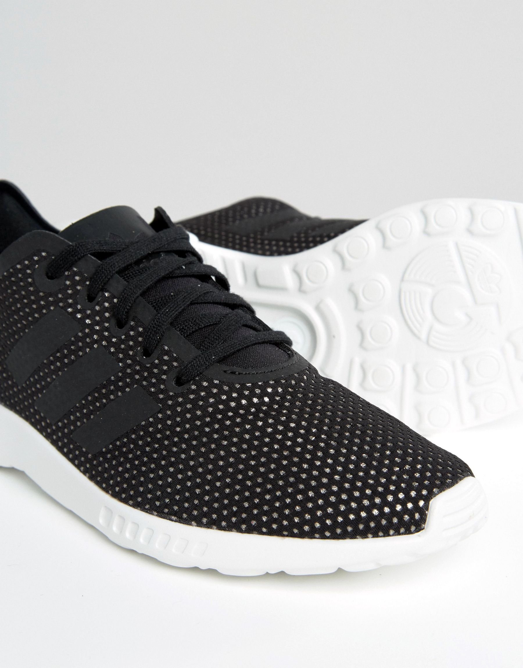 6a6c7ca26e26 Lyst - adidas Originals Originals Black Metallic Zx Flux Adv ...