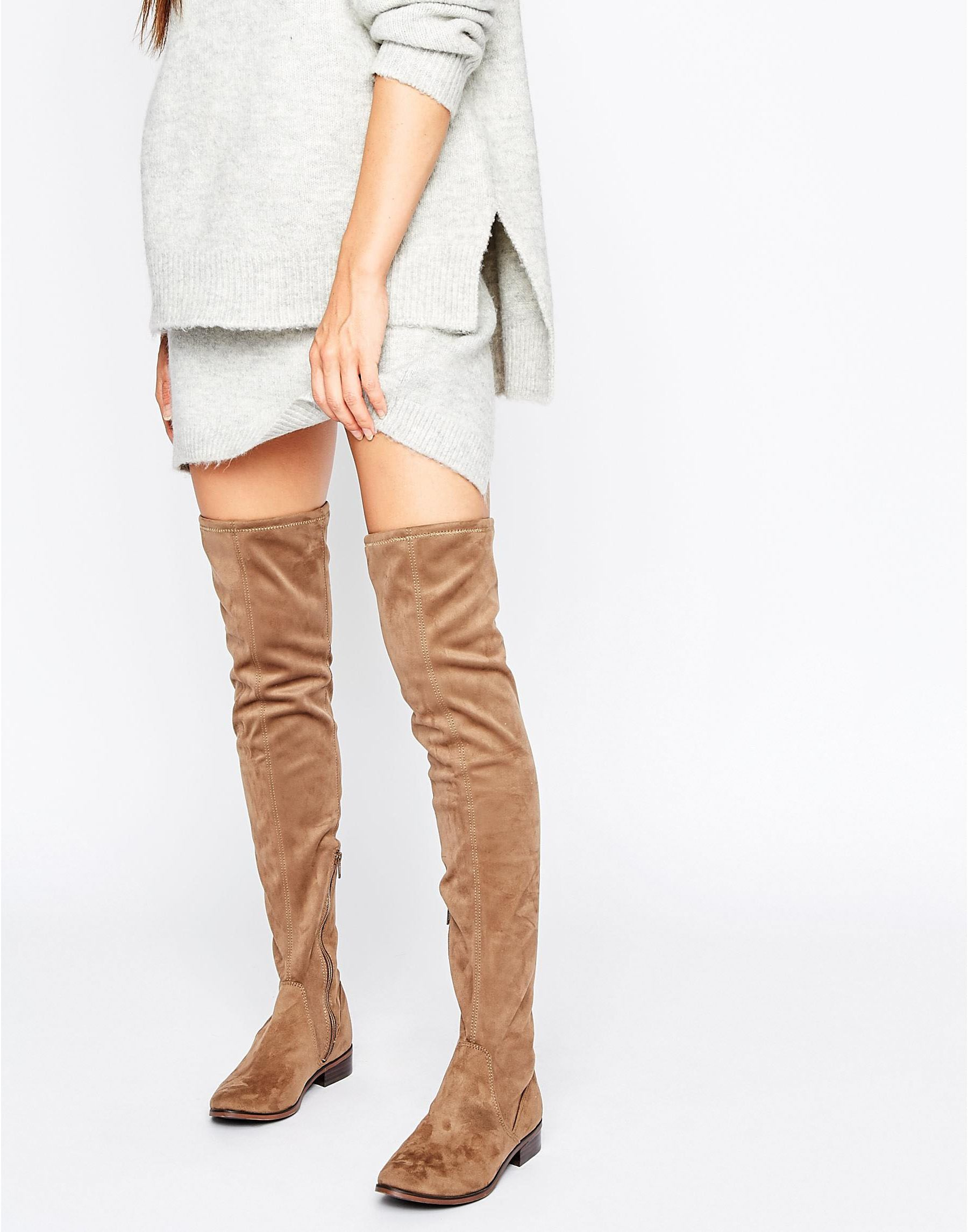 2bab827ea30 Lyst - ALDO Ldo Elinna Flat Over The Knee Boots in Brown