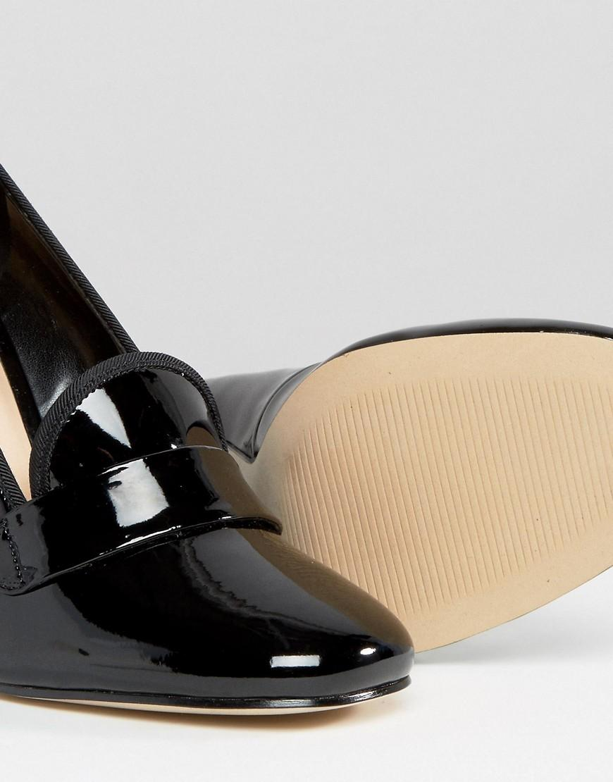 e8759260f12 Lyst - ALDO Colinda Patent Heeled Loafers in Black