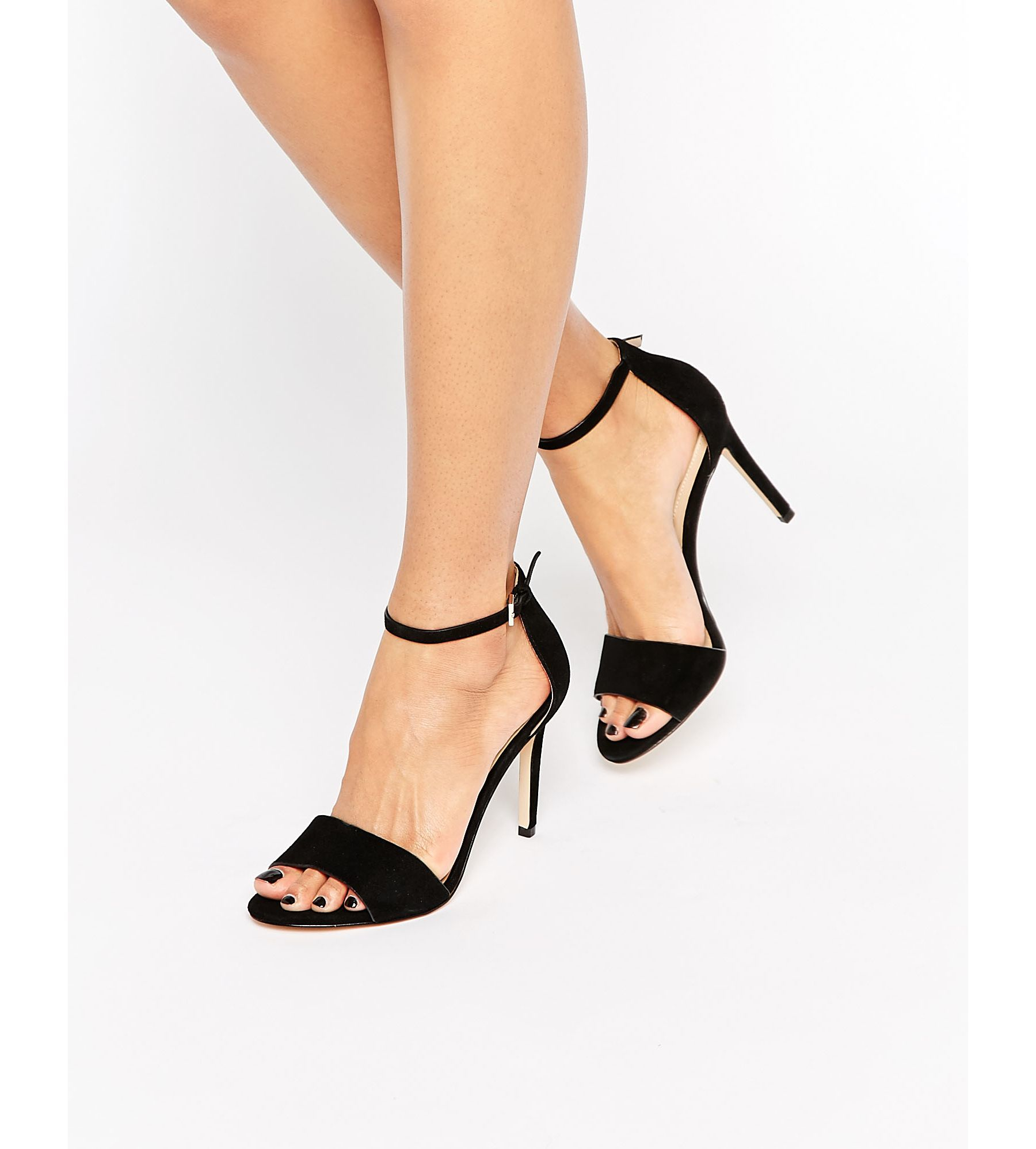c29d1b7e270 Lyst - ALDO Ldo Fiolla Ankle Strap Suede Heeled Sandals in Black