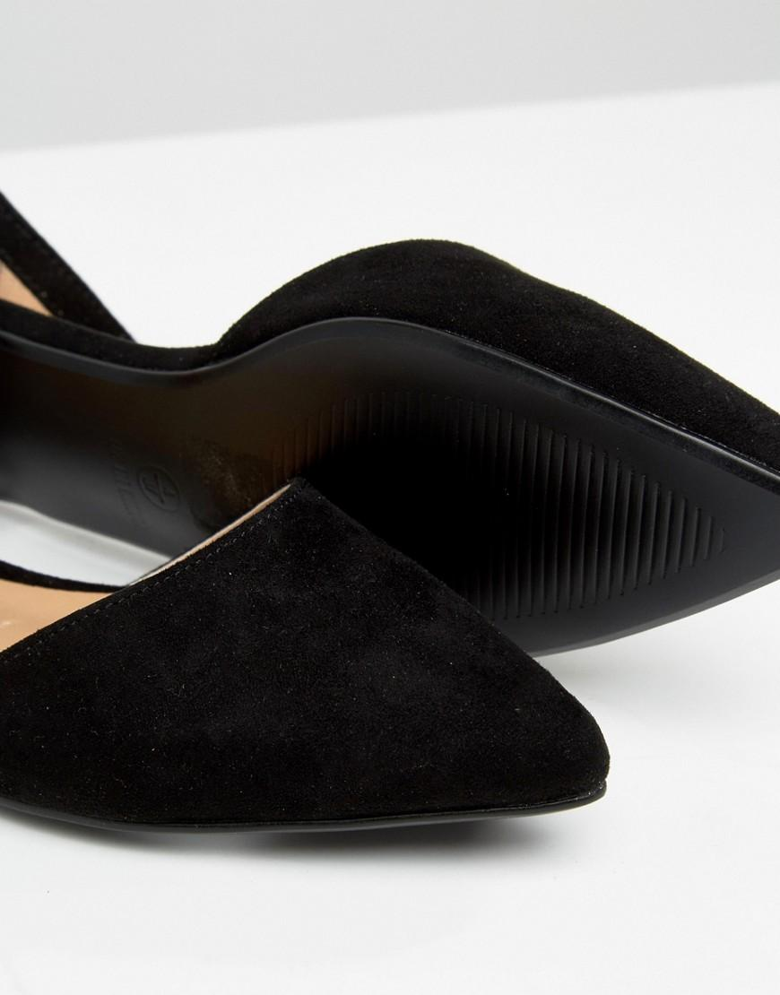 Boohoo Flat Pointed Shoe In Black Lyst