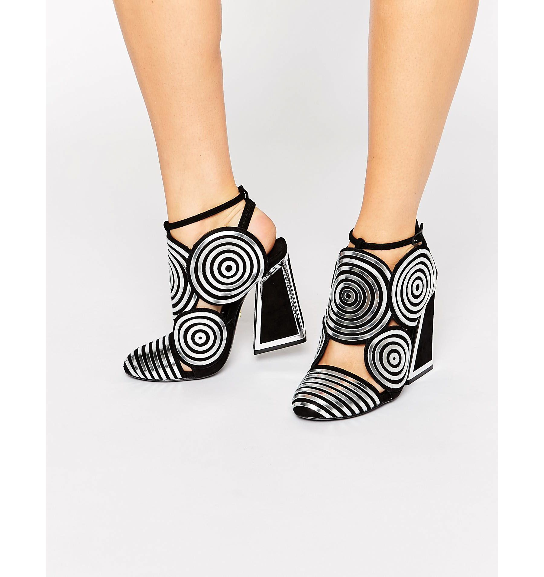 Silver Leather High Heel Shoes Kat Maconie