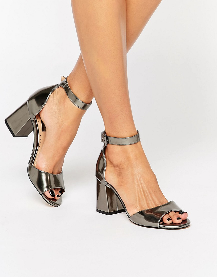 CADEY Pink Block Heel Sandals by MISS KG | Kurt Geiger