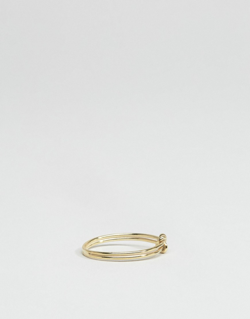 Asos Gold Plated Sterling Double Knot Ring