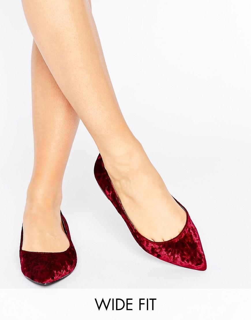 Asos Black Velvet Shoes