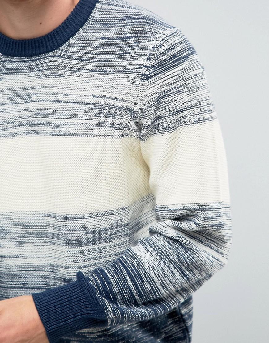 Pepe Jeans Denim Pepe Stripe Knit Jumper Wide Ombre Blue for Men
