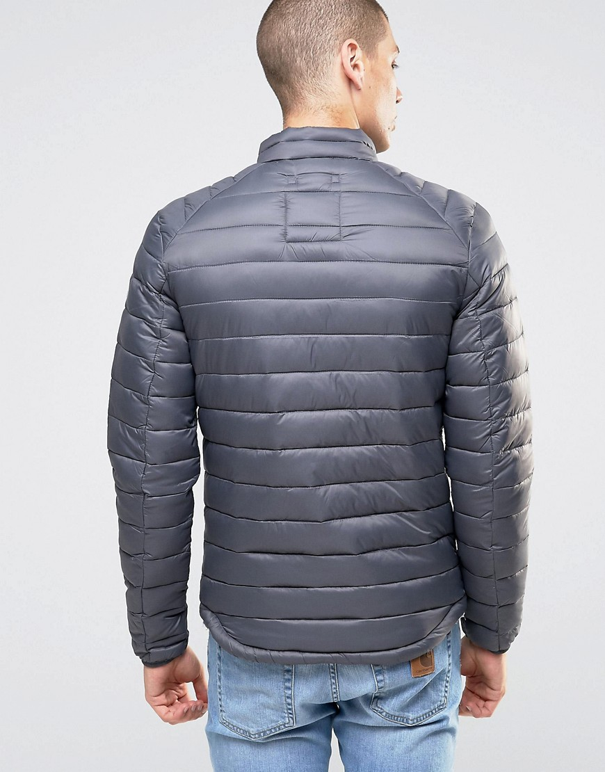 Esprit Synthetic Quilted Jacket in Navy (Blue) for Men