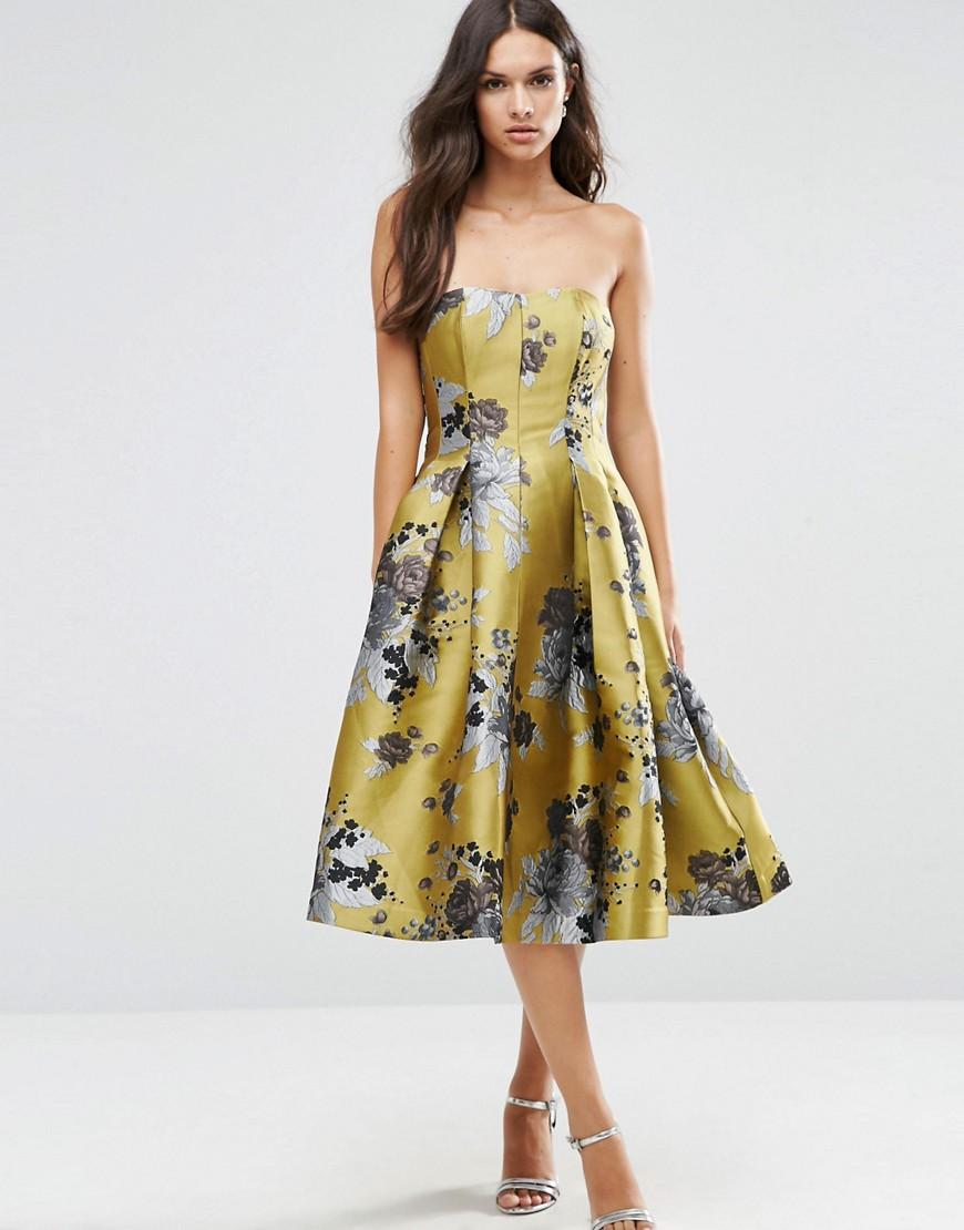 537f468488cdd Asos Petite Salon Floral Embroidered Backless Pinny Midi Prom Dress ...