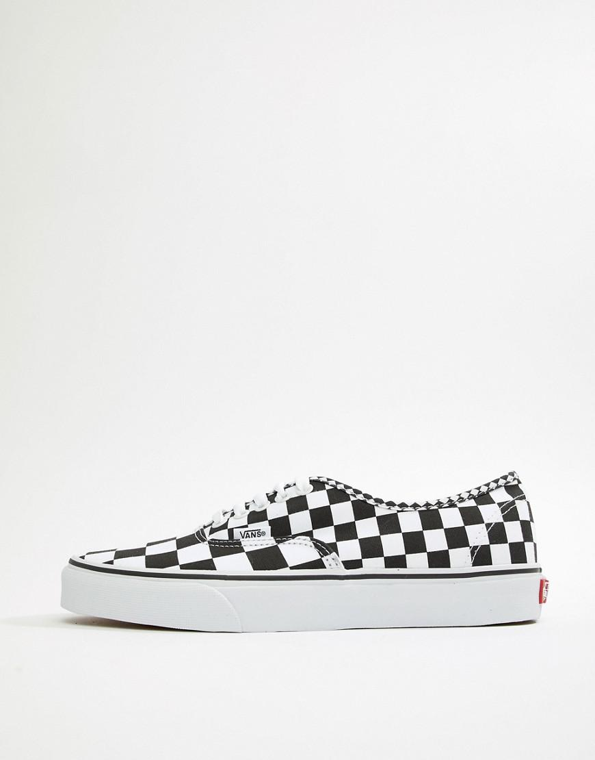 Vans Ua Authentic Blur Check in Black for Men - Save 53% - Lyst 9a800099b