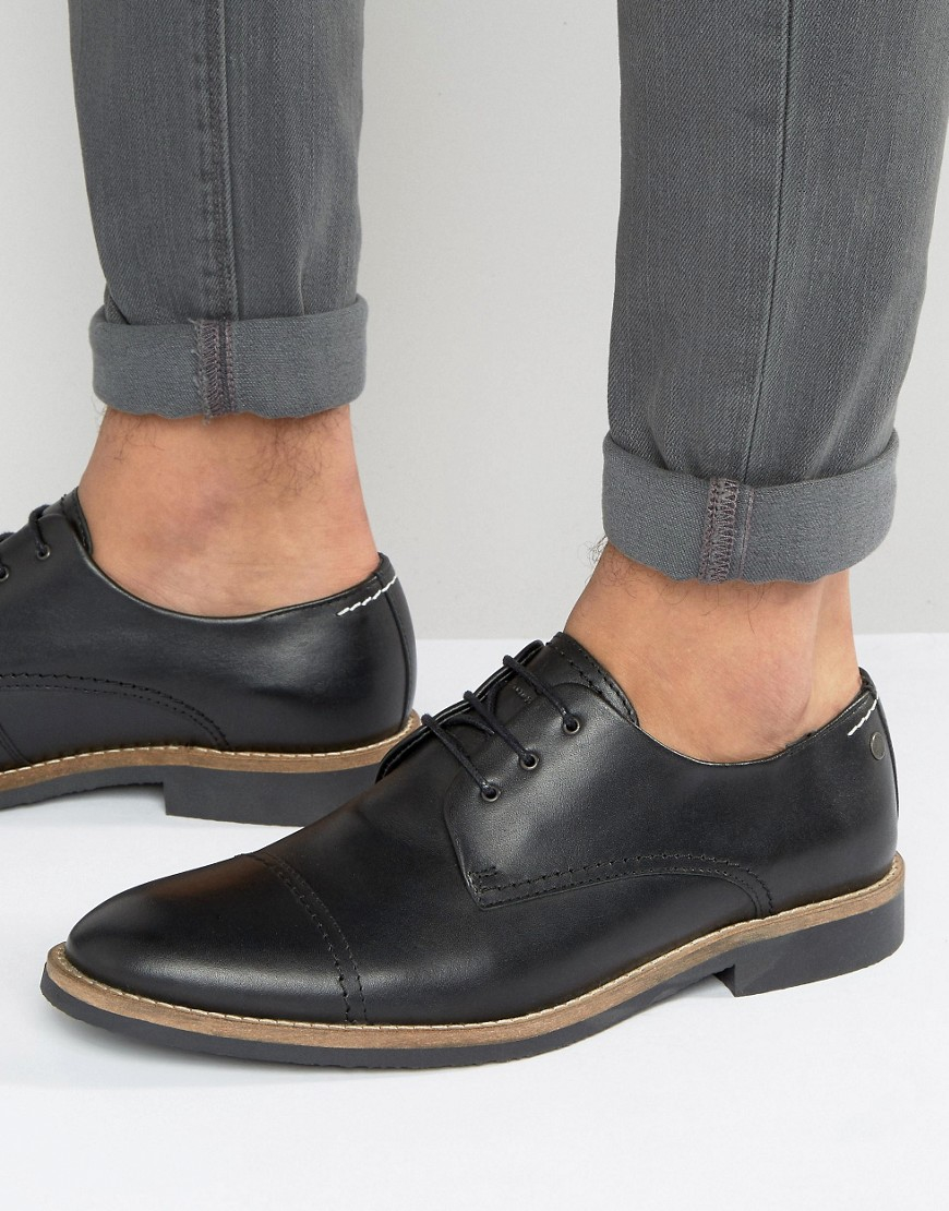 Leather Derby Shoes - Brown Jack & Jones