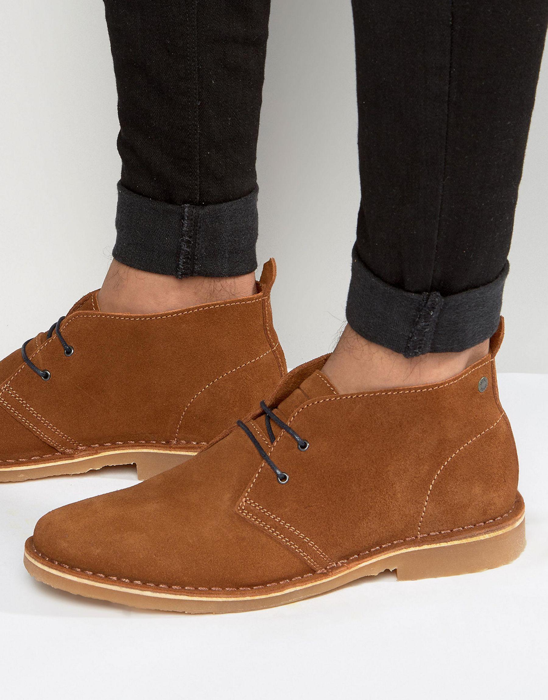 jones gobi suede desert boots in brown for lyst