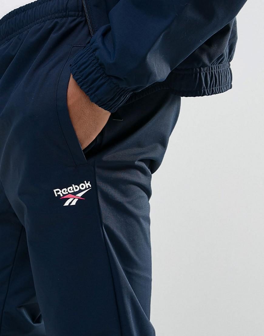 Reebok Synthetic Vector Joggers In Navy Br0086 in Blue for Men