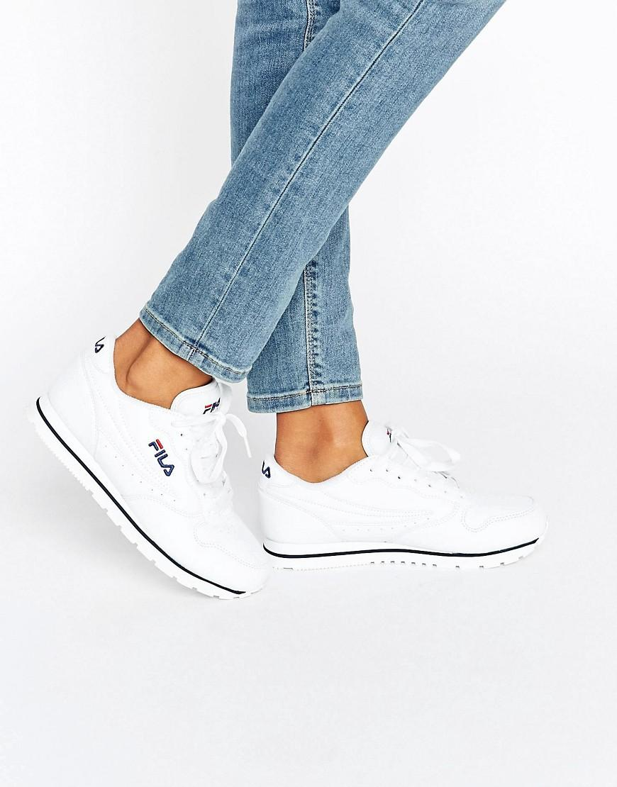 In Lyst Fila Trainers White Orbit Low OXqAwqFt