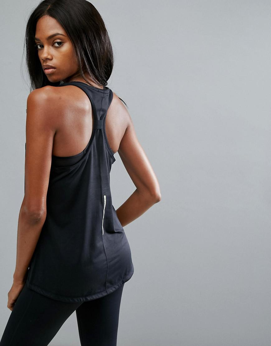 ELLE Sport Synthetic Lightweight Colourflash Vest in Black