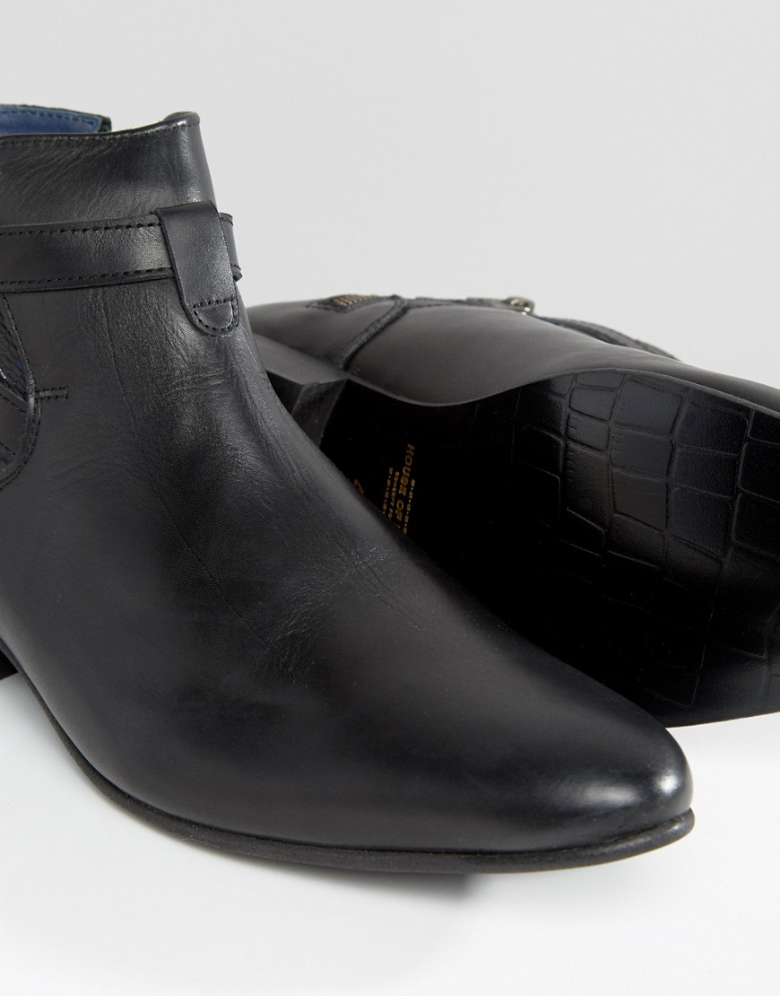 House Of Hounds Albion Leather Jodphur Boots in Black