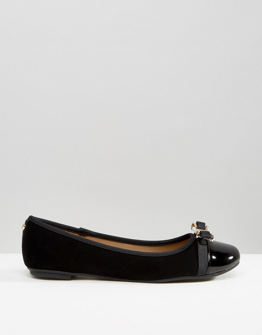 Dune By Dune Hadisia Black Patent Flat Shoes In Black   Lyst