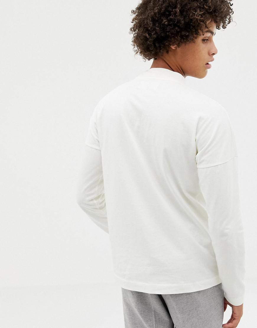 0a16790b Noak Long Sleeve T-shirt With Mock Neck With Logo in White for Men ...